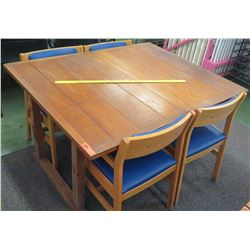 Wooden Table w/ 4 Chairs (RM-101)