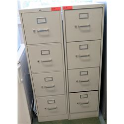Qty 2, 4-Drawer File Cabinets (RM-101)