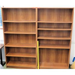 Qty 2 Wooden Shelving Units (RM-101)