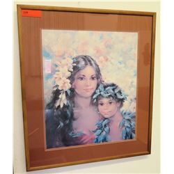 "Framed Print: Mother & Child 27.5"" x 31"" (RM-101)"