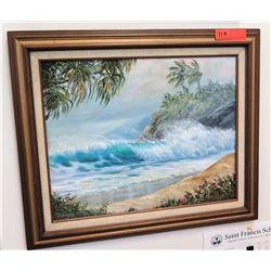 """Framed Art: Ocean Scene 25.5"""" x 21"""" (RM-101)"""