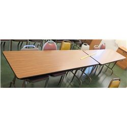 Qty 2 Utility Tables & 6 Chairs (RM-114)