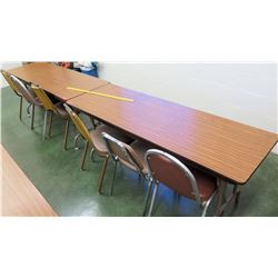 Qty 2 Wooden Tables and 6 Chairs (RM-114)