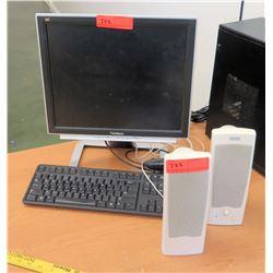 ViewSonic Monitor w/ 2 Altec Lansing Speakers (RM-114)