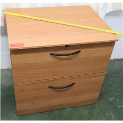 Wooden 2-Drawer File Cabinet (RM-114)