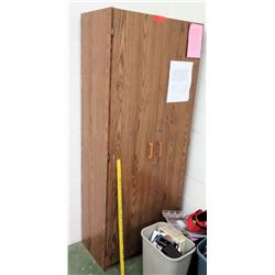 Wooden 2-Door Cabinet w/ Contents (RM-114)
