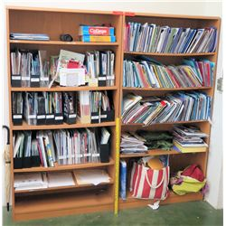 Qty 2 Wooden Shelving Units w/ Contents (RM-114)