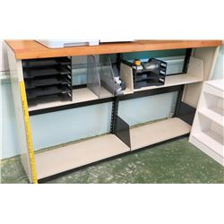 Wood and Metal Shelving Unit (contents not included) (RM-113)