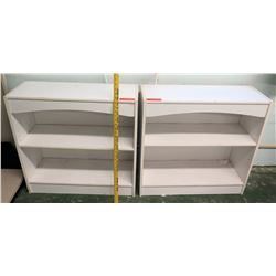 Qty 2 White Shelving Units (RM-113)