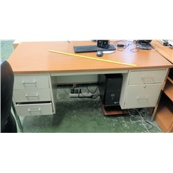Wood and Metal Desk (RM-113)