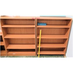 Qty 2 Wooden Shelving Units (RM-113)