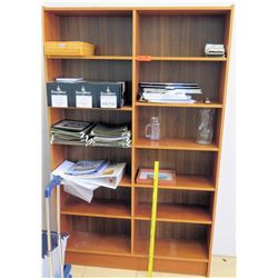 Wooden Bookcase and Contents (RM-102)