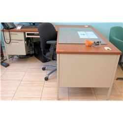 Wooden L-Shaped Desk w/ Rolling Chair (RM-102)