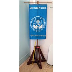 Wooden Stand w/ Saint Francis Banner (RM-102)