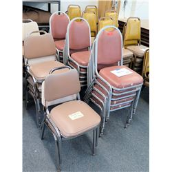 Approx. 57 Stackable Metal-Frame Chairs (RM-124)