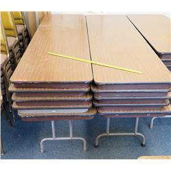 Qty 10 Folding Utility Tables 8 ft (RM-124)
