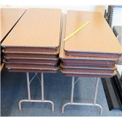 Qty 10 Folding Tables 6'L (RM-124)