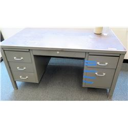 Heavy Duty Metal Work Desk w/ Drawers (RM-124)