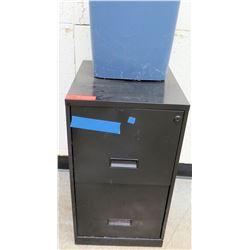 2-Drawer Metal File Cabinet and Trash Bin (RM-123)