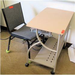 Rolling Metal Desk w/ Chair (RM-223)