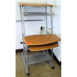 Rolling Desk w/ Shelves (RM-223)