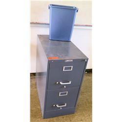 2-Drawer File  Cabinet and Trash Bin (RM-224)