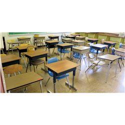 Qty 24 School Desks w/ Chairs (RM-225)