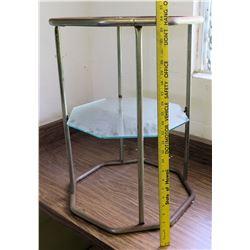 Metal and Glass Side Table (RM-225)