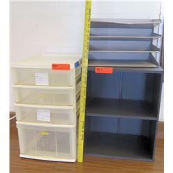 Plastic Drawers and Metal Paper Shelf (RM-225)