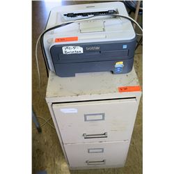 Brother Printer & 2-Drawer File Cabinet (RM-225)