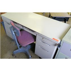 Metal Work Desk w/ Rolling Chair (RM-226)