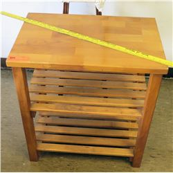 Wooden Side Table w/ Stool (RM-226)