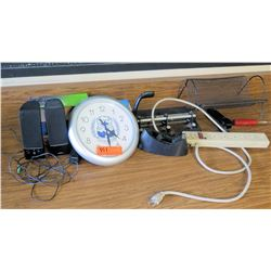 Speakers, Clock, Misc. Office Supplies (RM-321)