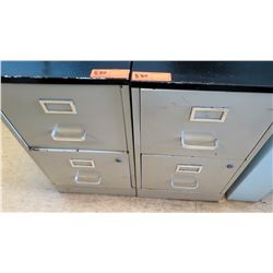 Qty 2 Drawer File Cabinets (RM-407C)
