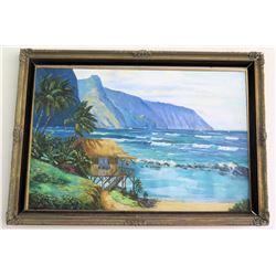 Large Original Framed Painting, Signed, Sister Antoinette 4/90 (RM-Stdnt Center)