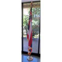 Hawaiian Flag and Stand (RM-Stdnt Center)
