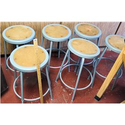 Qty 6 Metal Stools (1 seat not attached) (RM-221)