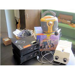 Karaoke Machine, 2 Projectors, Wires (RM-221)