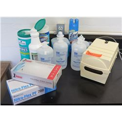Air Source Air Pump, Exam Gloves, Eyewash, Clorox Wipes (RM-221)