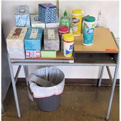 Desk, Tissues, Wet Wipes, Trash Bin (RM-221)