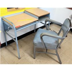 Metal Desk w/ Chair (RM-121)
