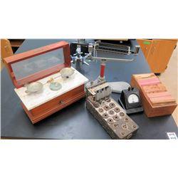 Henry Troemner Vintage Scale, Galvanometer, Card Records (RM-121)