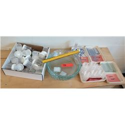 Glass Slides, Test Trays, Glass Platters, & Test Cups (RM-121)