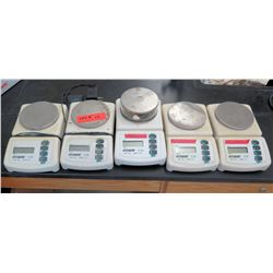 Qty 5 Acculab Scales (3 labeled as 'broken') (RM-121)