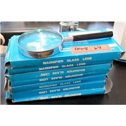 Qty 7 High Power Magnifying Glasses (RM-121)