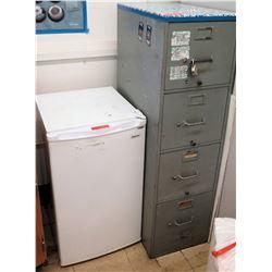 4-Drawer File Cabinet & Mini Fridge (RM-121)