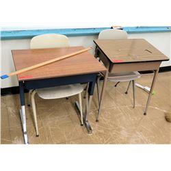 Qty 2 Desks w/ Chairs (RM-122)