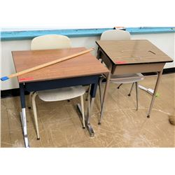 Qty 2 Desks w/ Chairs (RM-122)