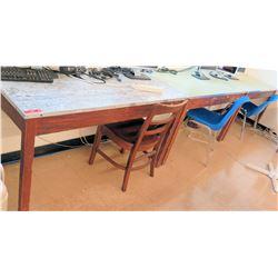 Qty 4 Work Desks w/ Chairs (RM-122)