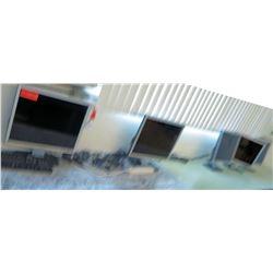 Qty 7 Dell monitors w/ Keyboards (RM-122)